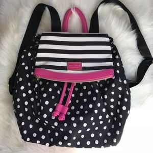 Betsey Johnson polkadot backpack